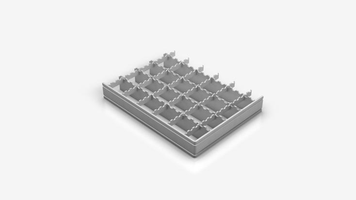 Pressgitterrost - Typ S 33x33